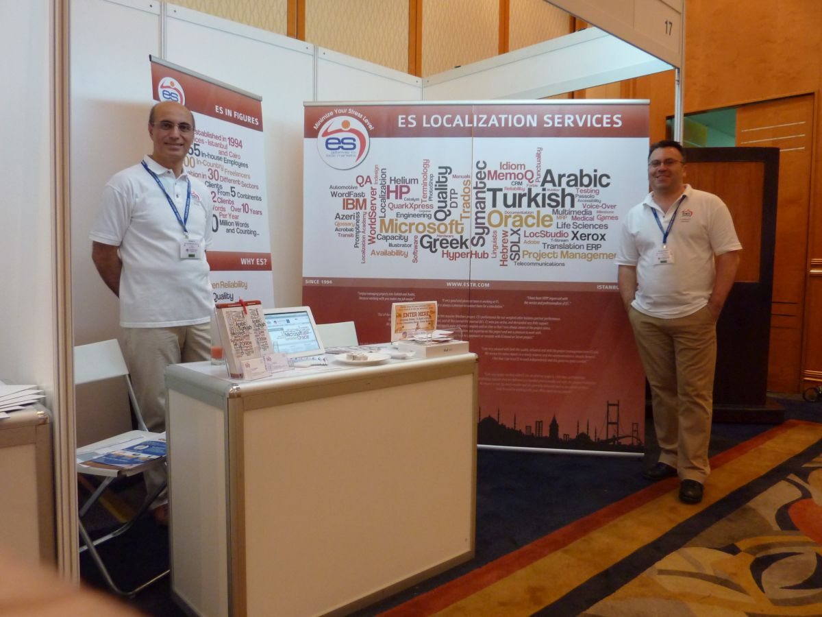 ES Dil Hizmetleri LocWorld Singapur standı